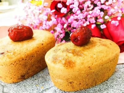 红糖枣蓉蛋糕