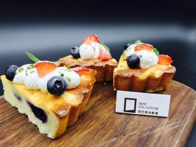 法式西点丨蔓越莓欧布蕾+蓝莓派,下午茶搞定咯!