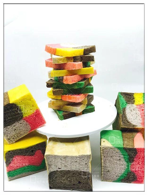 吐司的做法,学做彩虹吐司,西点烘焙培训