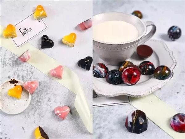 """欧艺""""巧克力蛋糕、奶茶饮品""""免费技能培训班,颗粒巧克力"""